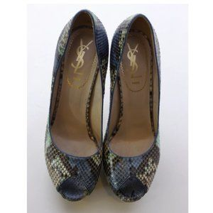 Yves Saint Laurent YSL Python Leather Pumps